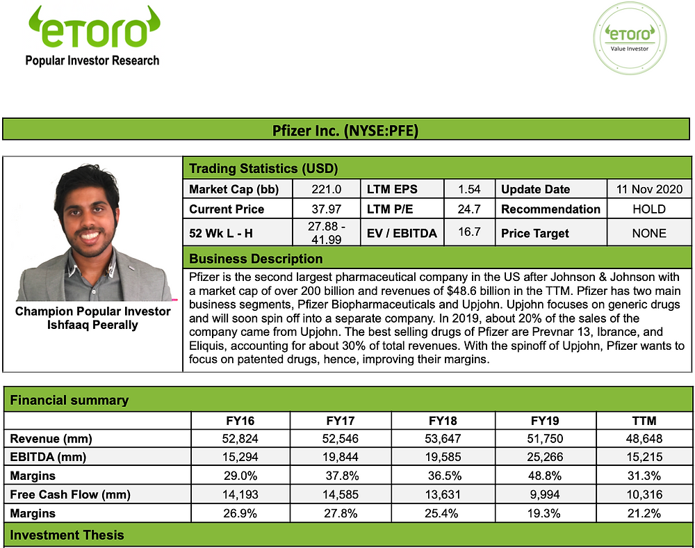 Pfizer Stock Analysis