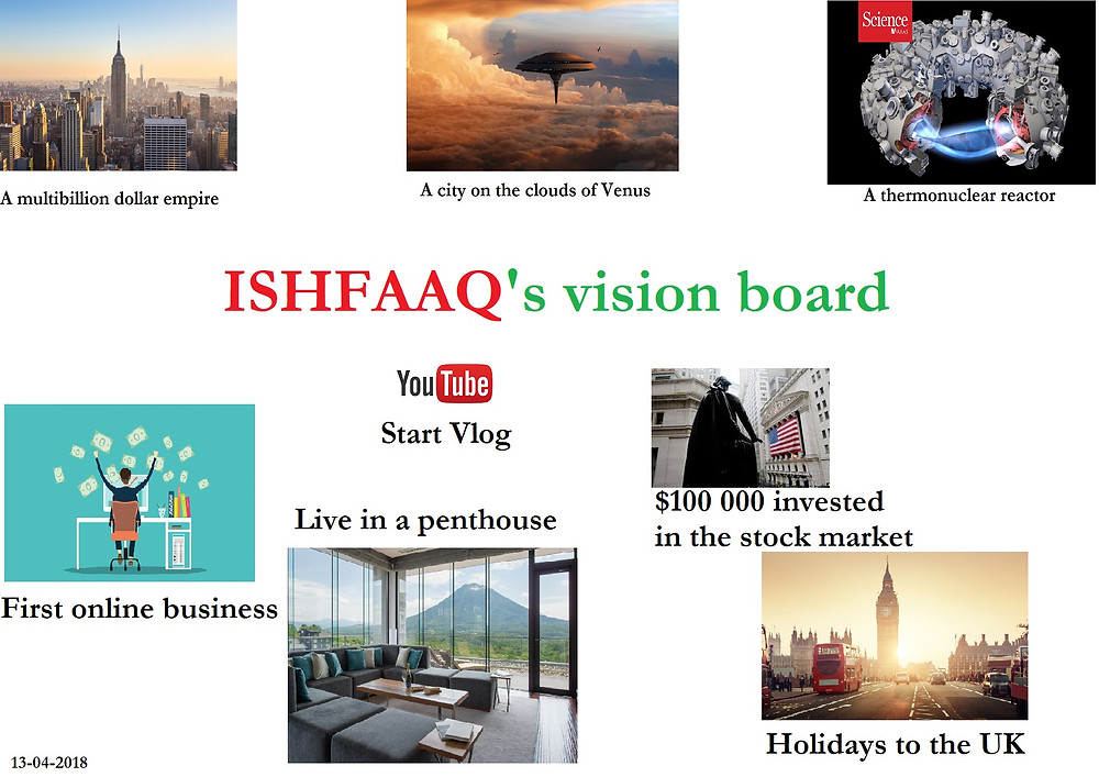 Ishfaaq 's vision board