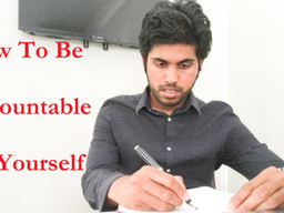 How to be Accountable to Yourself