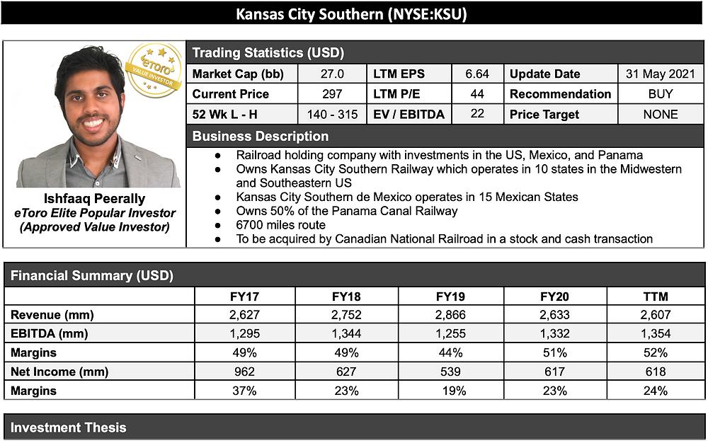 Kansas City Southern Stock Analysis