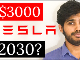 Will TESLA STOCK price reach $3000 by 2030? 🚗