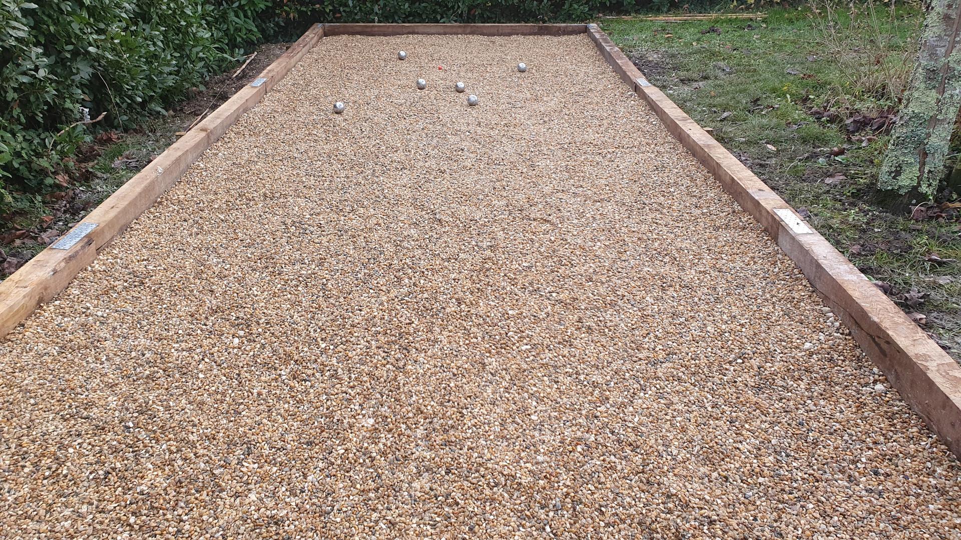 Our 13 metre boule court