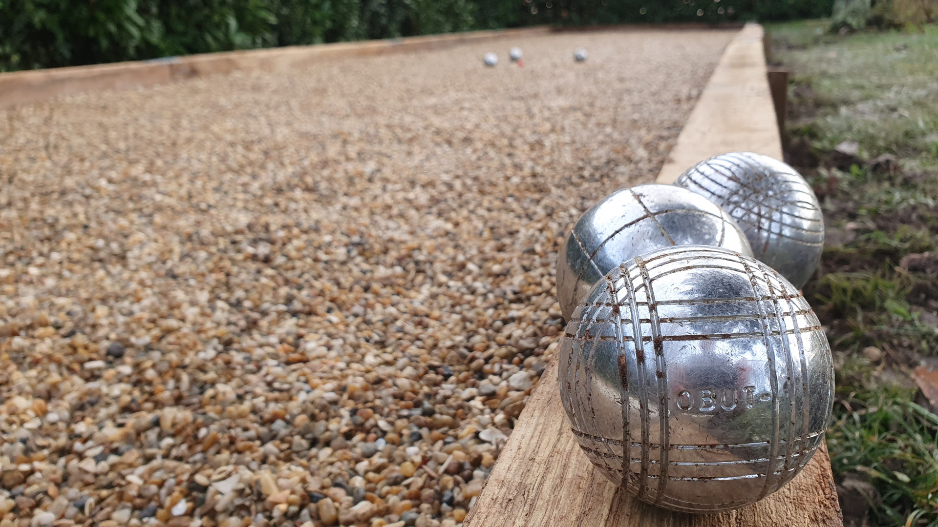 The boules court