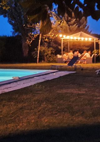Summer evenings under the gazebo