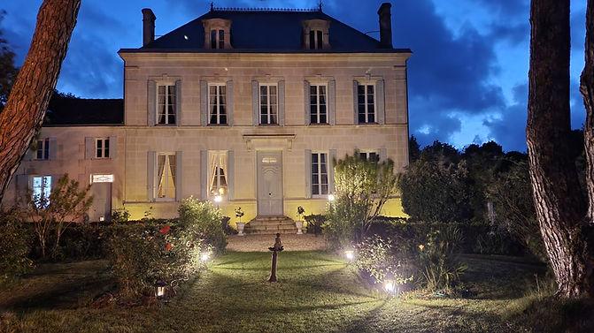 Logis facade in the evening