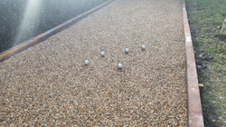 Our 13 metre boules court