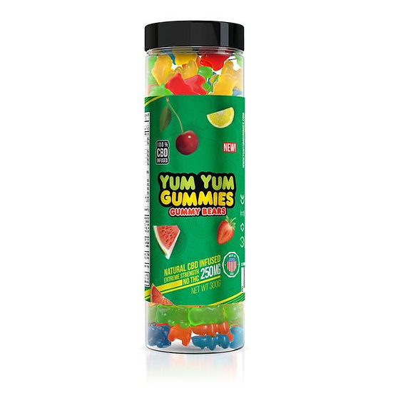 Yum Yum Gummies| CBD Infused Gummy Bears (250 mg)