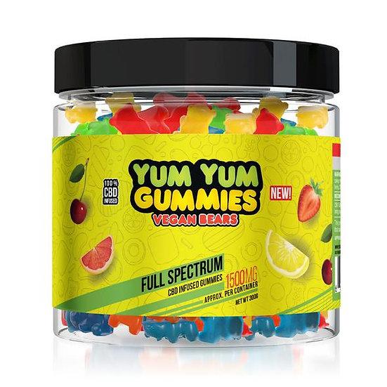 Yum Yum Gummies| CBD Full Spectrum Vegan Bears (1500mg)
