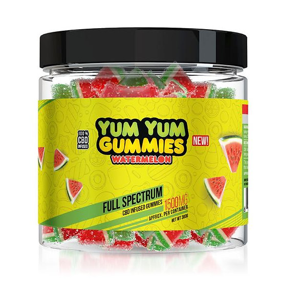 Yum Yum Gummies| Full Spectrum CBD Watermelon Slices(1500mg)