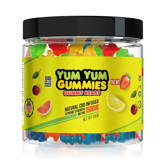 Yum Yum Gummies| CBD Infused Gummy Bears (1500 mg)