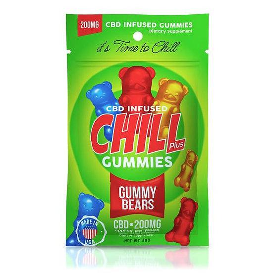 Chill Plus Gummies | CBD-Infused Gummy Bears (200mg)