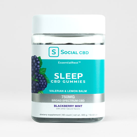 Social CBD | Sleep | Blackberry Mint Gummies