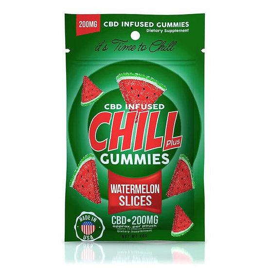 Chill Plus Gummies | CBD-Infused Watermelon Slices (200mg)