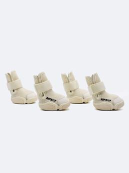 Bone Caesar 1 Dog Shoe Four Shoes in White Studio