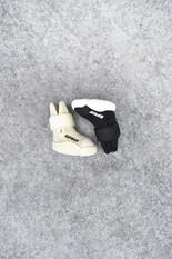 Black and Bone RIFRUF Caesar 1 Dog Shoe on Concrete