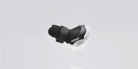 Black RIFRUF Caesar 1 Dog Shoe Floating in Grey Background