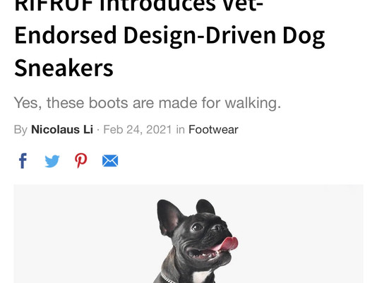 RIFRUF Dog Shoes In The Press