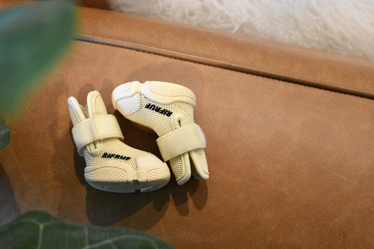 Bone RIFRUF Caesar 1 Dog Shoe On Tan Leather
