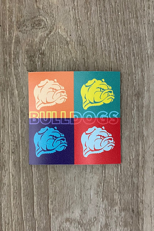 Colorful Bulldogs Magnet
