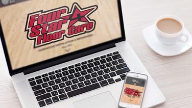 Four Star Floor Care website that we designed.