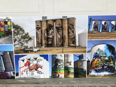 Silo artwork print that we made for the Putnam County Mural Project.
