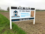 Myers Real Estate sign that we designed and installed.