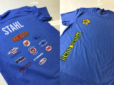 Shirts that we personalized and printed for Young Guns in Kokomo.