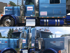 Another semi truck that we designed and installed graphics on.