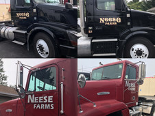 Neese Farm semi trucks that we recreated logos for and applies to their trucks.