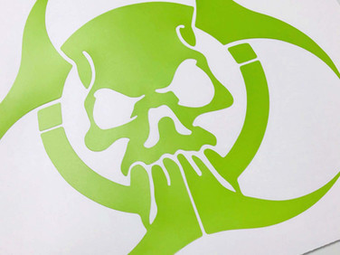 Biohazard car decal created for a young car enthusiast.