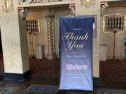 Here is a banner that we designed and printed for the historic Paramount Theatre in Anderson.