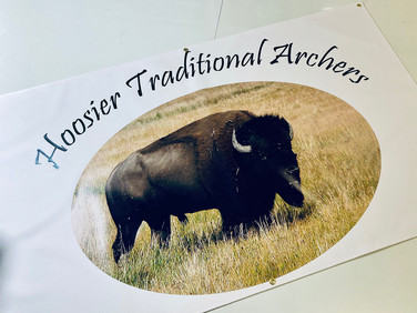Hoosier Traditional Archers banner that we printed.