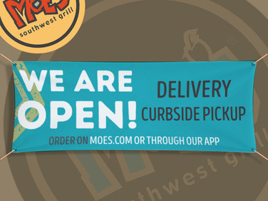Banner that we printed for Moe's restaurant.