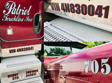 Several graphics that we installed for Patriot Truckline.