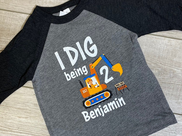 Cute birthday shirt that we created for a special little boy.