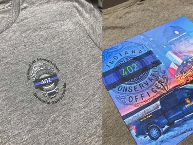 Shirts that we printed for the Ed Bollman Memorial Golf Scramble.
