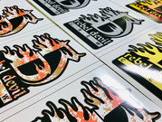 Custom cut decals for Rebel Devil Customs.
