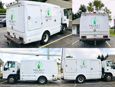 Select Lawncare van that we added graphics to.