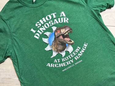 Kids shirt that we designed and printed for Koteewi Archery Range.