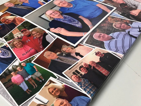 Collage we created for a memorial.