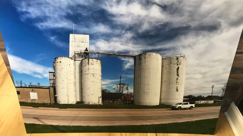 Silo print we made for project in Greencastle.