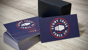 Stony Creek Fence business cards that we designed.