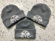 Custom beanies we printed for ETC Renovation and Design.