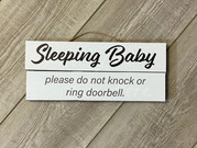 Sleeping baby sign that we created for some tired parents.