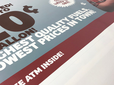 Rickers needed a banner in a hurry. They contacted us and we were able to get it to them quickly.