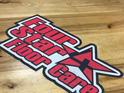 Floor graphic installed for Four Star Floor Care in Lapel.