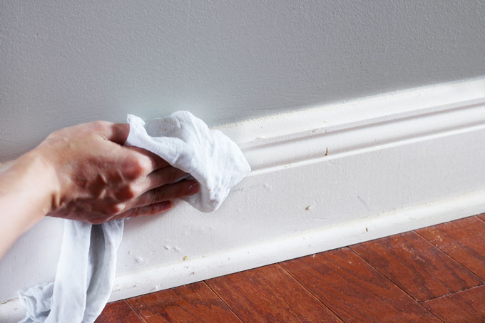 When preparing your home to sell, wipe down your baseboards