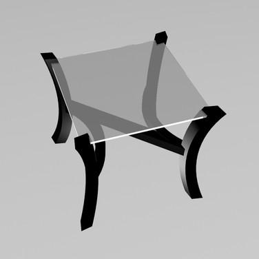 Авторский кофейный столик N-Glass (square)