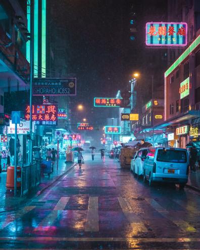 Mong Kok Downpour
