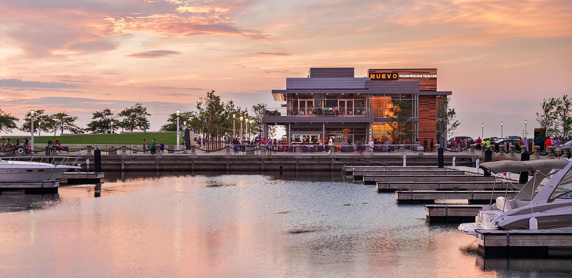 NCH / Nuevo, sunset marina view